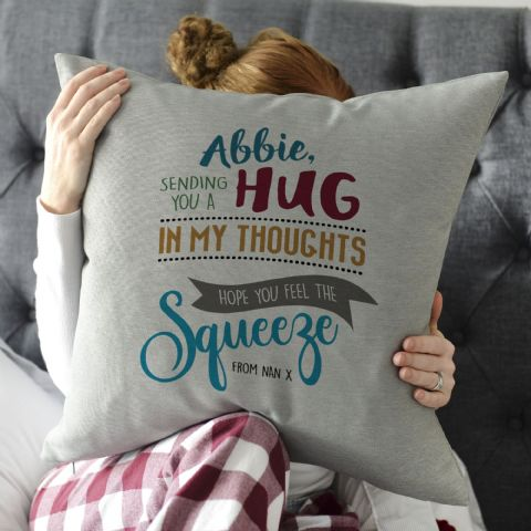 Personalised Sending You A Hug Cushion